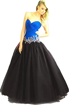 TL24 BLUE BLACK SIZE 8-20 Evening Dresses party full length prom gown ball dress