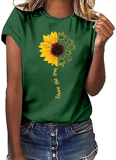 Camiseta para Sudar Mujer Tallas Grandes en los Labios Imprimir Camiseta de Manga Corta Blusa Tops para Correr Mujer para Mujeres Chica Joven LiNaoNa: Amazon.es: Ropa y accesorios