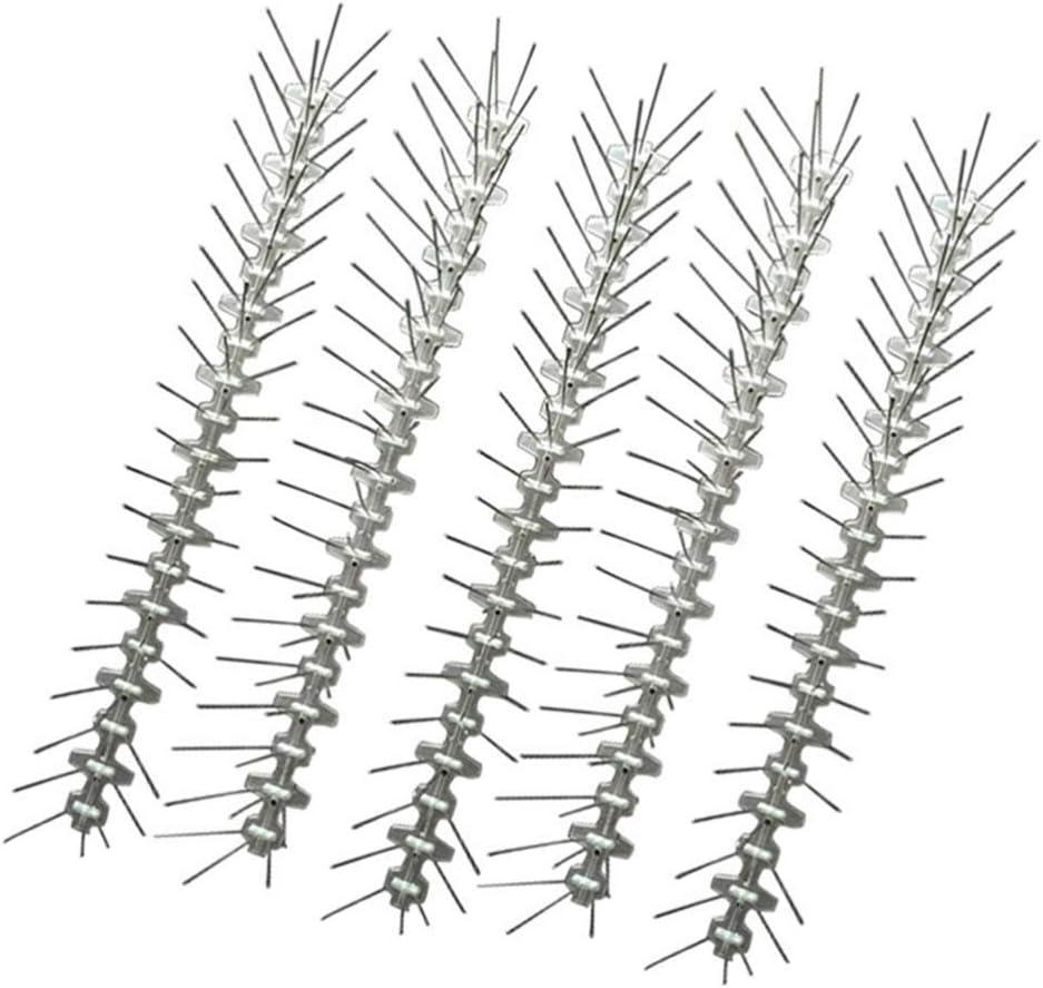 Yarnow 5 Piezas de Púas de Pájaro de Acero Inoxidable Anteojeras Repelente de Pájaros Picos de Disuasión para Palomas Pájaros