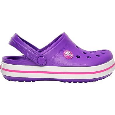 size 40 45ddd d702d crocs Violett Rosa Mädchen Crocband Schuhe – Kinder Neon ...