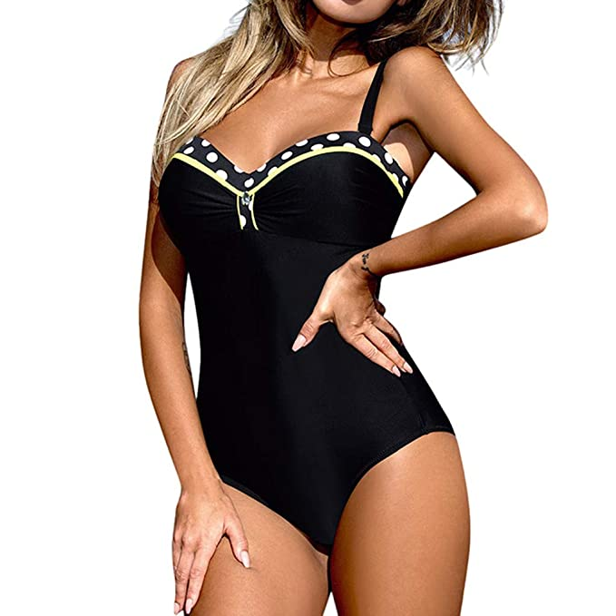 Vectry Mujer Una Pieza Monokini Push Up Padded Bra Bikini Swimsuit ...
