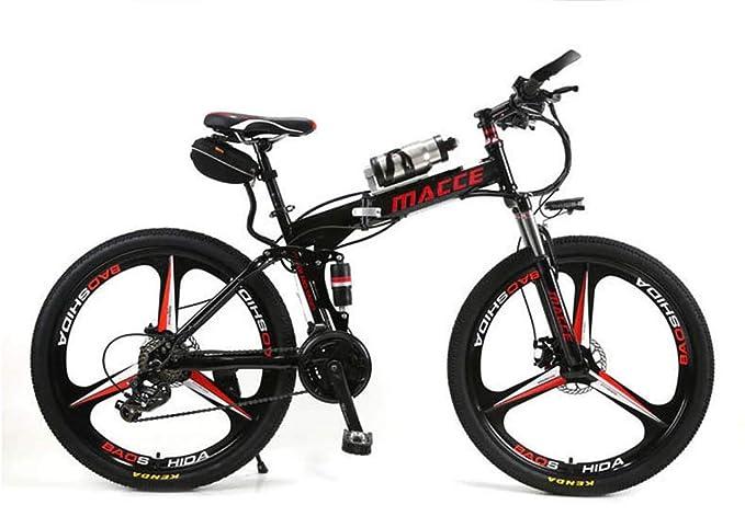 BYYLH Bicicleta Electrica Paseo Montaña Plegable Ion Litio E ...
