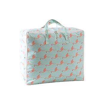 WBBSN Flamingo Printing Edredones Bolsas de Almacenamiento ...