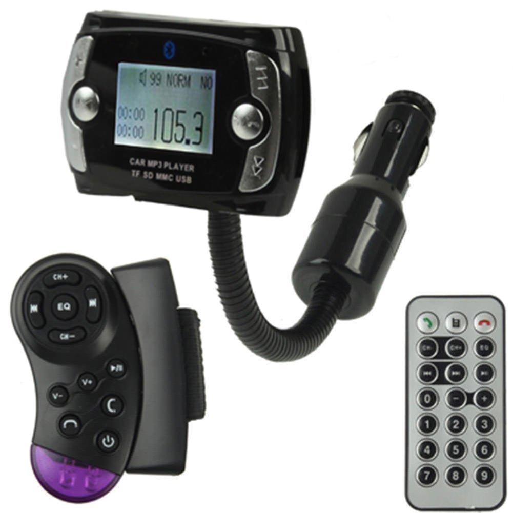 QUMOX Lecteur MP3 de voiture sans fil Bluetooth Transmetteur FM Modulator USB SD LCD à distance B683U