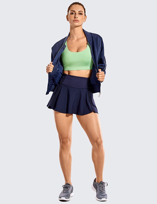 CRZ YOGA Damen Sport Yoga BH /Überkreuzte Tr/äger,Abnehmbare Polsterung