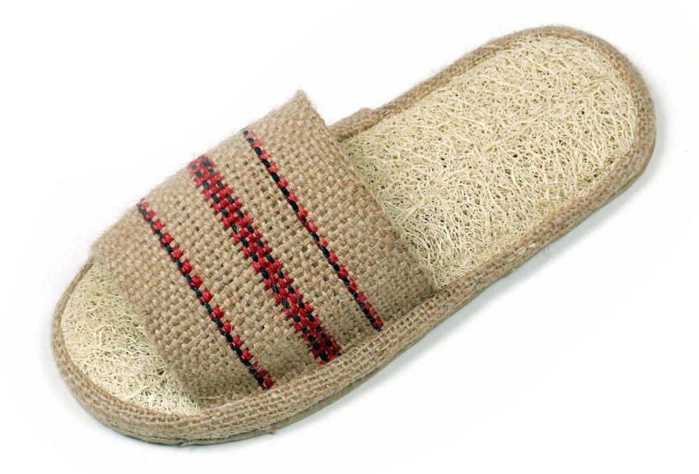 Loofah Savannah and Jute Open Toe Spa Slippers Size 37-38 European E-BBG/1AD0-S