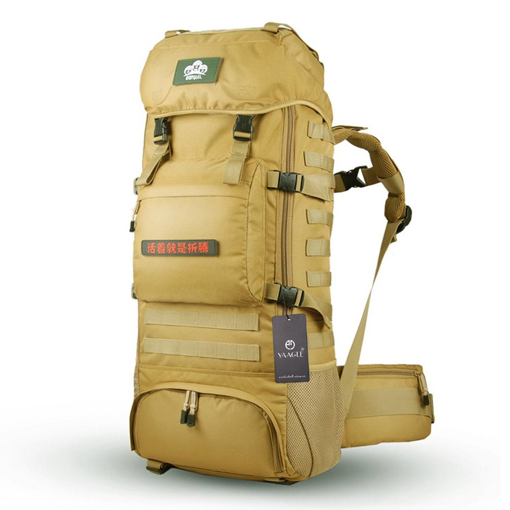 YAAGLE Outdoor Reisetasche Geheimdienst Armee Fans groß Fassungsvermögen Rucksack Gepäck Camping Bergsteigen Taschen