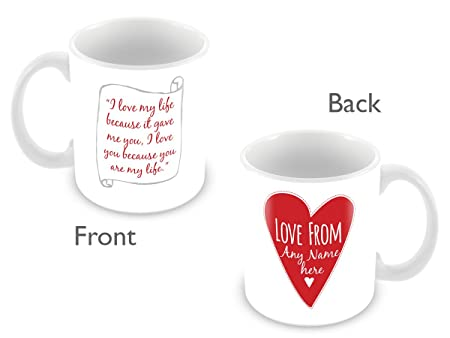 Romantic Love Message Personalised / Customised Mug for