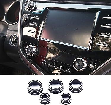 paquete de 3 Bot/ón de perilla de control de aire acondicionado negro reemplazo de cubierta de control de interruptor de bot/ón de calentador de coche
