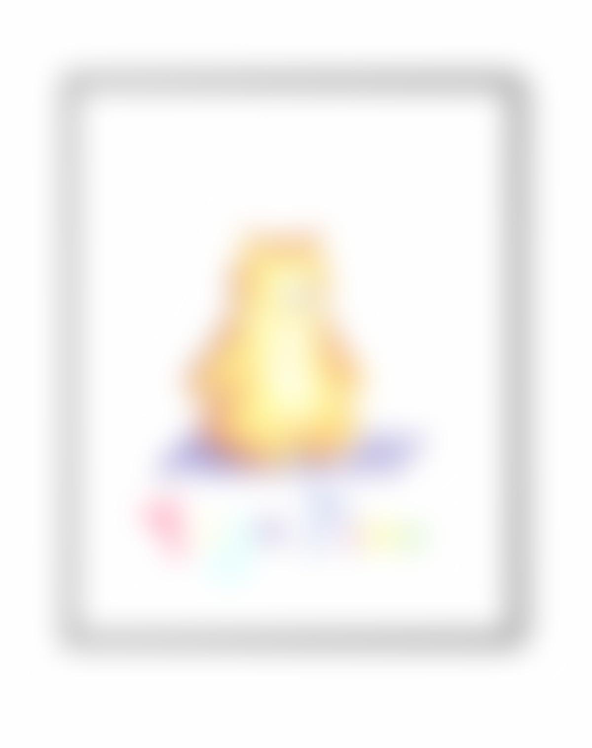 Yoga Bär, Poster ohne Rahmen, Zeit für Yoga. Geschenk für Yoga ...