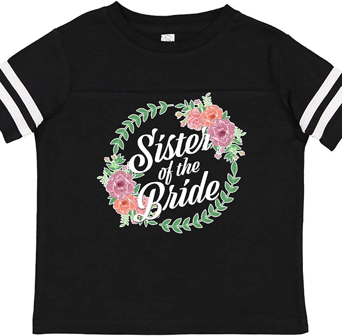 inktastic Sister of The Bride with Flower Circle Toddler T-Shirt