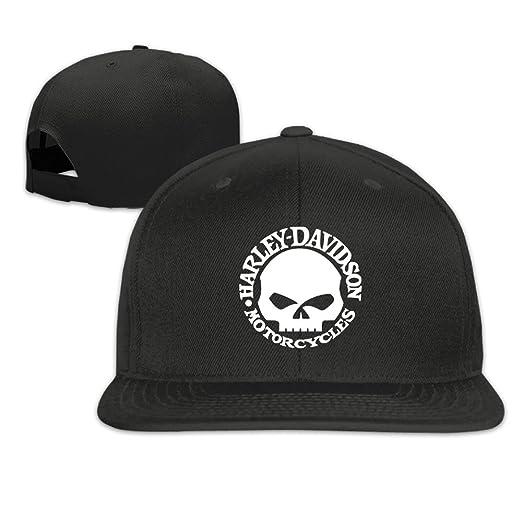 4c623d36f7ac6 ... inexpensive harley davidson skull unisex adjustable flat fitted hat  baseball cap black 9d413 bb933