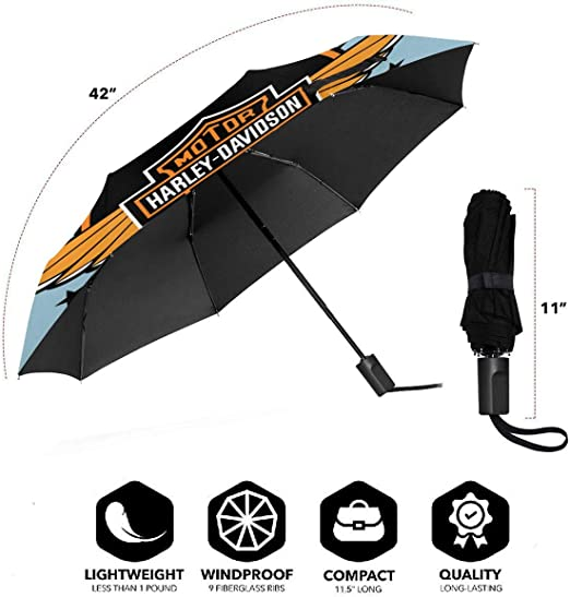 Lovesofun Portable Manual Umbrella Bos-ton B-Ruins Compact Folding Business Umbrellas UV Protection Manual Tri-fold Umbrella for Men and Women