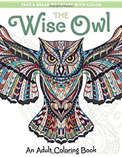 Amazon.com: Owl Coloring Book For Adults: An Adult Coloring Book Of ...
