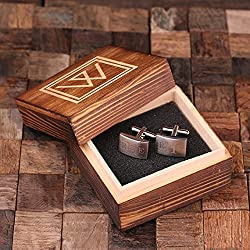 Personalized Engraved Cuff Links Classic Monogram