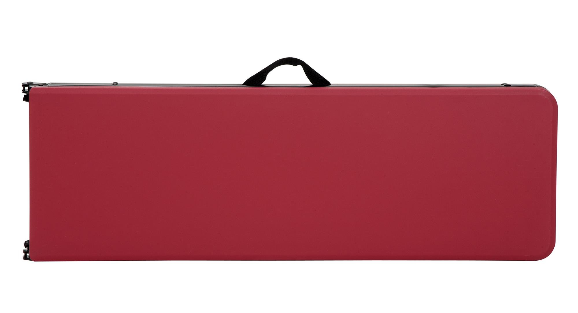 COSCO 6 ft. Indoor Outdoor Center Fold Tailgate Bench with Carrying Handle, Red Bench Top, Black Frame, 2-pack by Cosco Outdoor Living (Image #3)