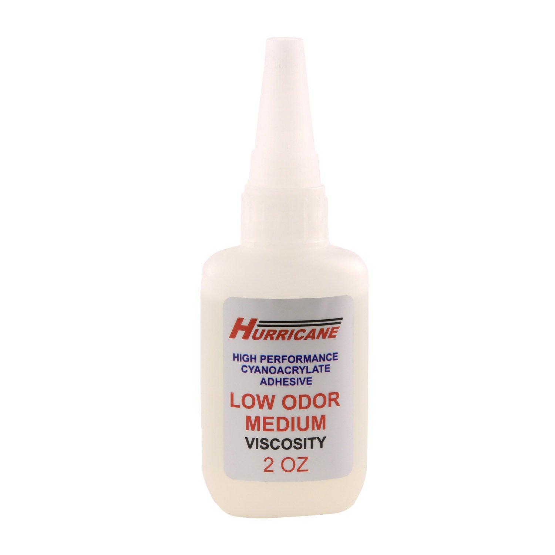 Hurricane Low Odor, Low Bloom CA Glue, Medium, 2 oz Bottle