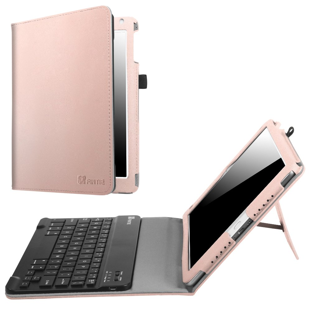 Fintie iPad 9.7 2018 2017 / iPad Air 2 / iPad Air Keyboard Case - Folio Stand Cover with Removable Wireless Bluetooth Keyboard for Apple iPad 6th / 5th Gen, iPad Air 1 / 2, Rose Gold
