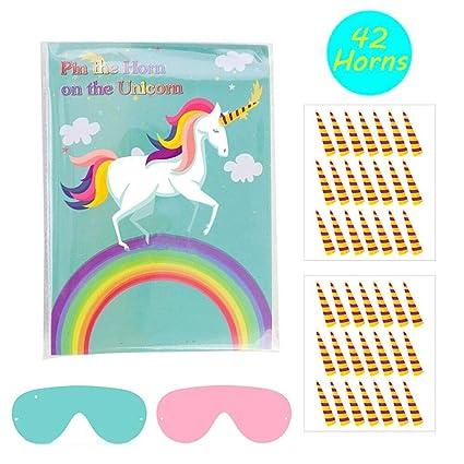 Amazon.com: Pin el cuerno en la fiesta de unicornio de ...