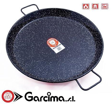 Amazon.com: Garcima La Ideal Acero Esmaltado Paellera 34 cm ...