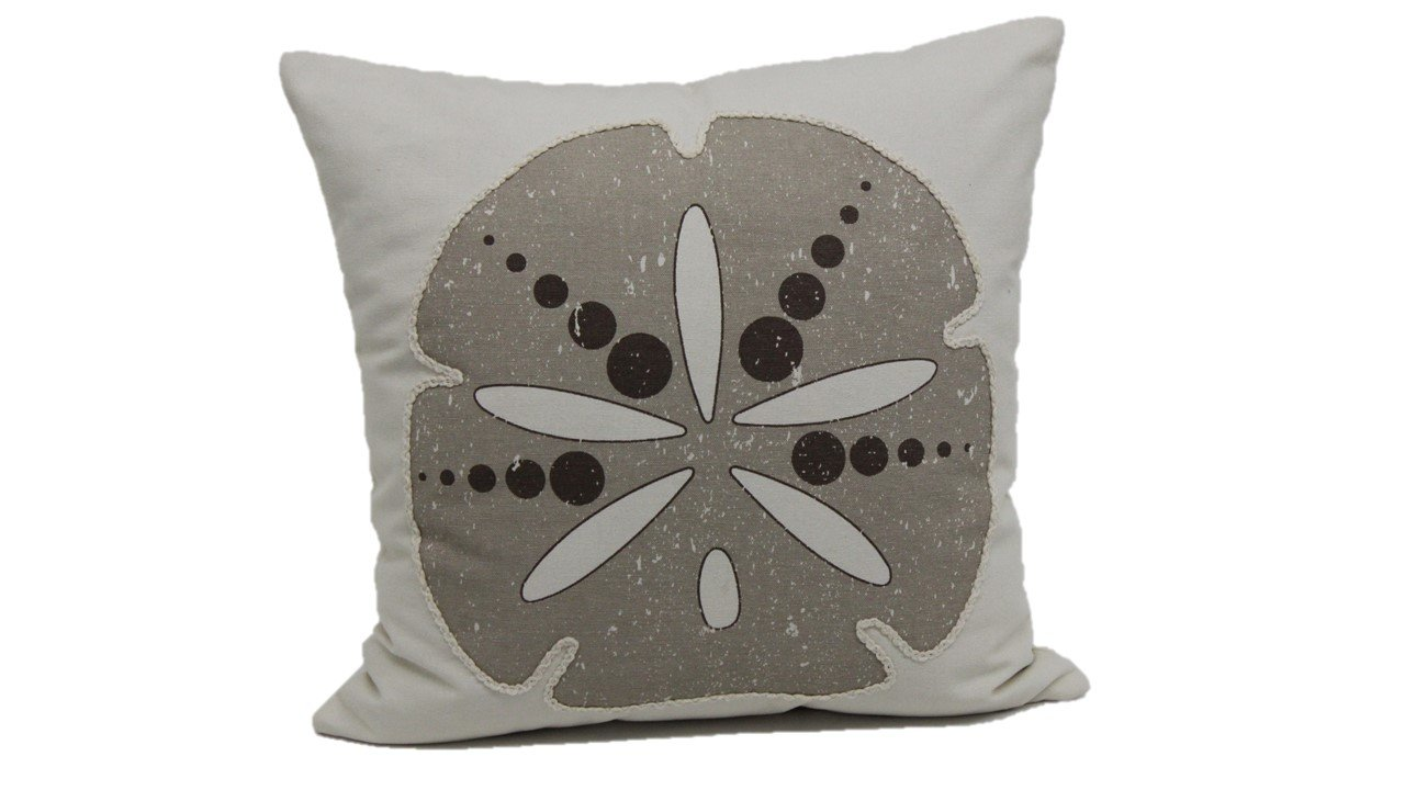 Brentwood Originals 9140 Sand Dollar Throw Pillow 18 Taupe 18