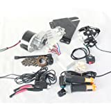 24 V 250 W KIT de BI250W cepillo eléctrico MOTOR PARA BICICLETA ELECTRICA acelerador con interruptor de llave y tensión de batería SIMPLE kit de motor para el bricolaje E-BIKECICLETA ELÉCTRICA KIT DE CONVERSIÓN E-BIKE SCOOTER ELÉCTRICO BICICLETA GNG MOTOR ELÉCTRICO (MONTAJE LATERAL)