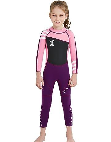 09e5443d18 DIVE   SAIL Kids Wetsuit Full Body Swimsuit 2.5mm Neoprene Wetsuit UV  Protective Thermal Swimwear