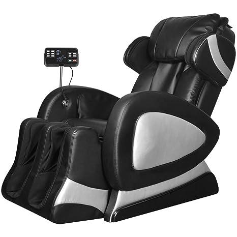 Poltrona Massaggiante Usata.Vidaxl Poltrona Massaggiante Elettrica In Ecopelle Nera