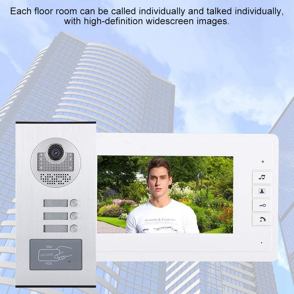 Garsent Sonnette Interphone Vid/éo Vision Nocturne Cam/éra Interphone. EU Syst/ème Sonnette de Porte Interphone Portier Vid/éo avec 7 Pouces 3 HD Moniteur Int/érieur Support Audio Bidirectionnel