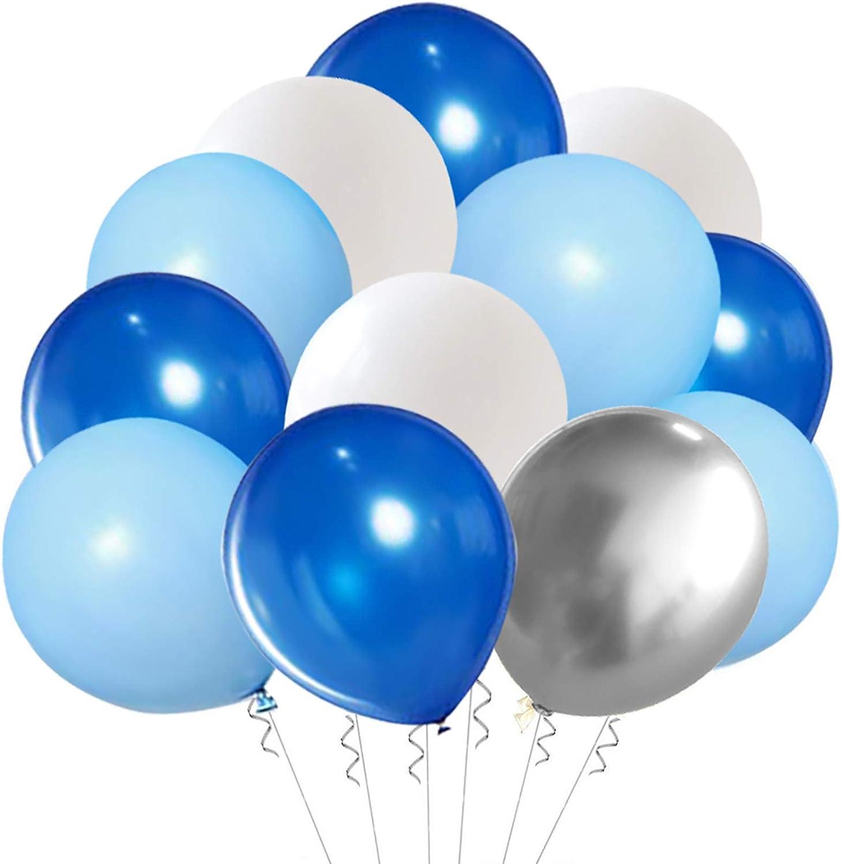 "10 x 11/"" Wht//Blue Balloons printed Happy 18th Birthday"