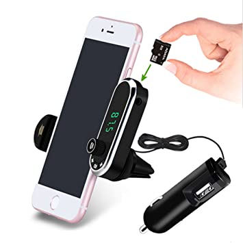 G7 Hands-free Bluetooth Car Kit FM Transmitter USB Charger Adapter MP3 Player UK