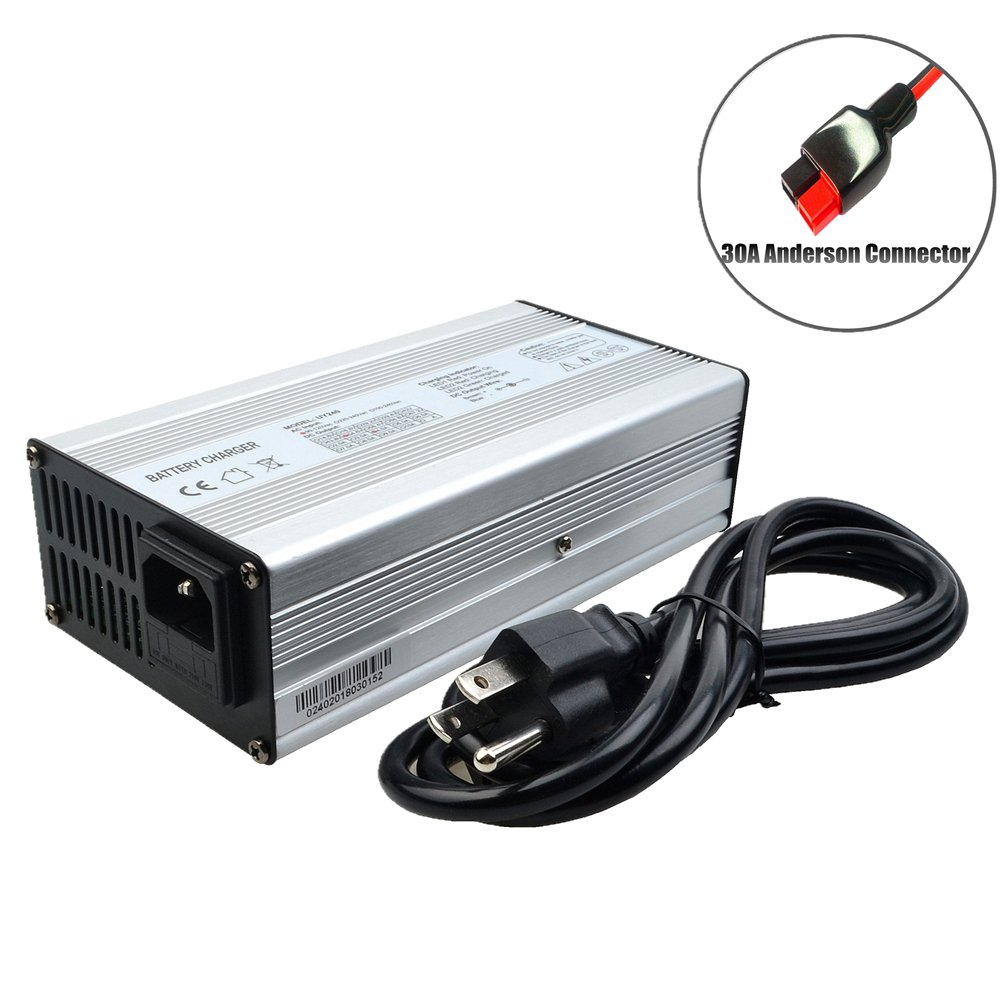 24V Battery Charger 24V 10A Charger 29.4V Charger 24V Lithium Battery Charger E-Bike/Scooter Battery Charger with Anderson Connector (29.4V 10A Anderson)
