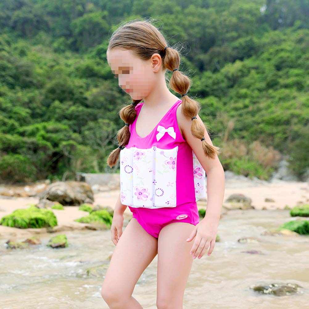 Amazon.com : VORCOOL Floral Pattern Float Suit Toddler Swimsuit Kids Swim Training Aid Jacket Vest Suit with Removable Buoyancy Float for Toddler Girls Size ...