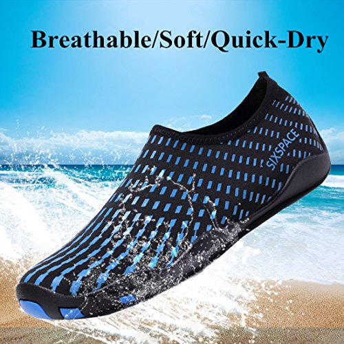 07 Water Surf Beach Shoes Skin Durable Blue Exercise Yoga Shoes Pool Barefoot for Men Women Dry Sole Quick Water Sixspace ZEqHwx