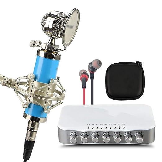 LEZDPP Tarjeta de Sonido del Ordenador móvil Micrófono Condensador ...