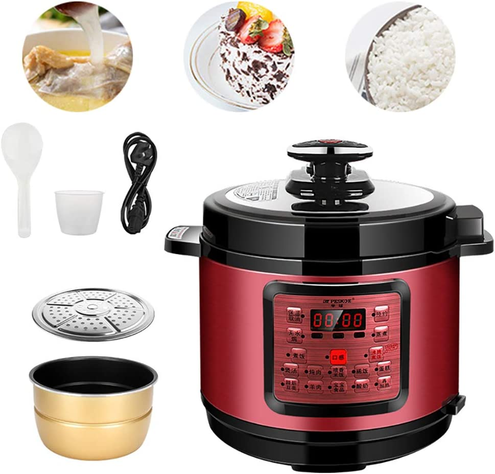 AURALLL Electric Pressure Rice Cooker and Steamer Sear, Multi Cooke Kitchen Perfected Automatic Non Stick Rice Cooker LED Display Commercial Kitchen Professional Restaurant Bistro Cafe Rice Cooker