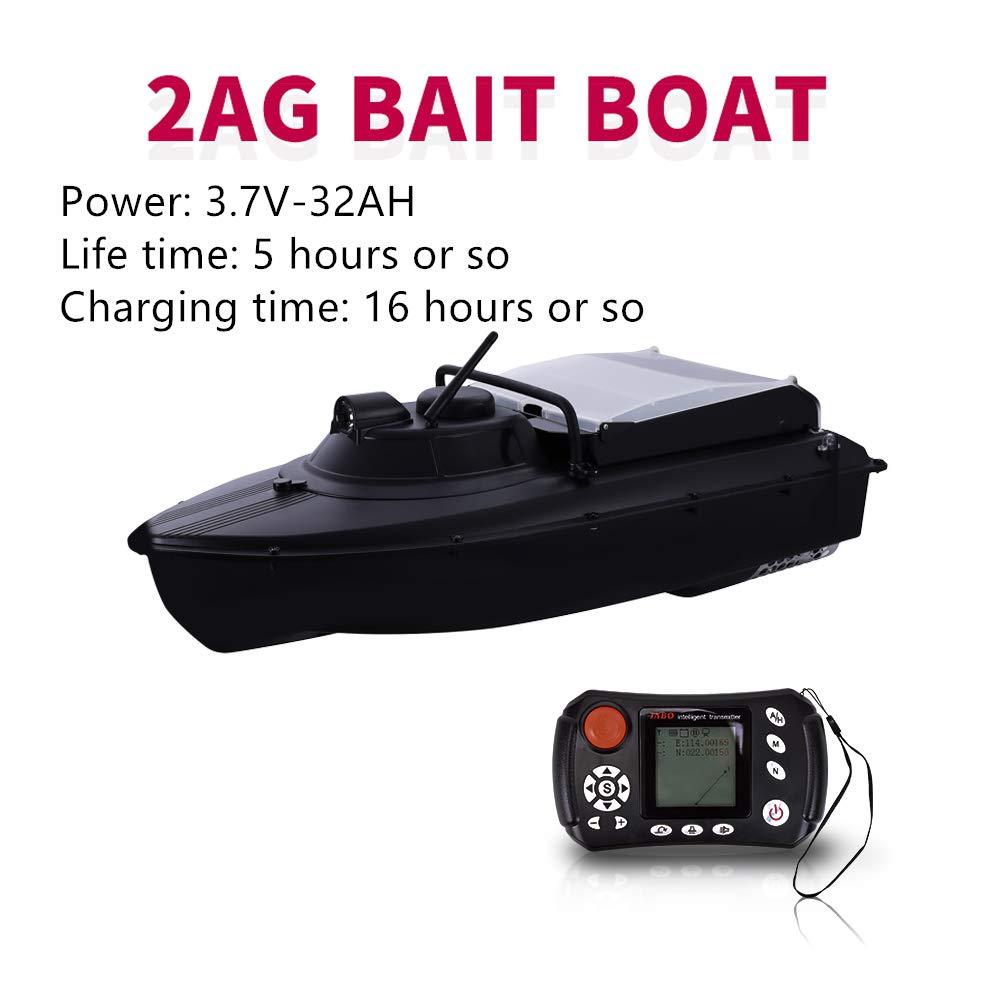 イカ釣り餌ボート, リモートコントロールボートリモートコントロールインテリジェント Gps ナビゲーション自動復帰, 魚の夜の釣り釣りサーチライトの検出, ルアー釣り, ブラック,32AH  32AH