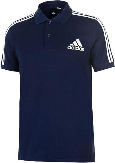 adidas Herren Herren Poloshirt 3 Streifen Logo Poloshirt
