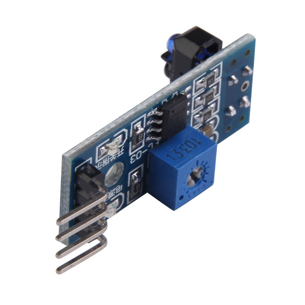 FengYun® Módulo de sensor de seguimiento TCRT5000 Placa de sensor reflectivo infrarrojo Módulo de prevención de barrera IR con interruptor fotoeléctrico: ...