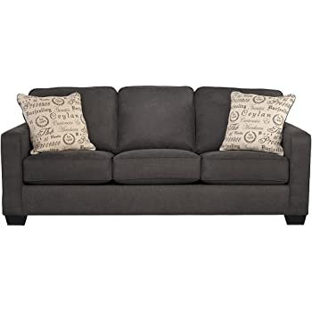 Awesome Ashley Furniture Signature Design   Alenya Sleeper Sofa With 2 Throw  Pillows   Queen Size