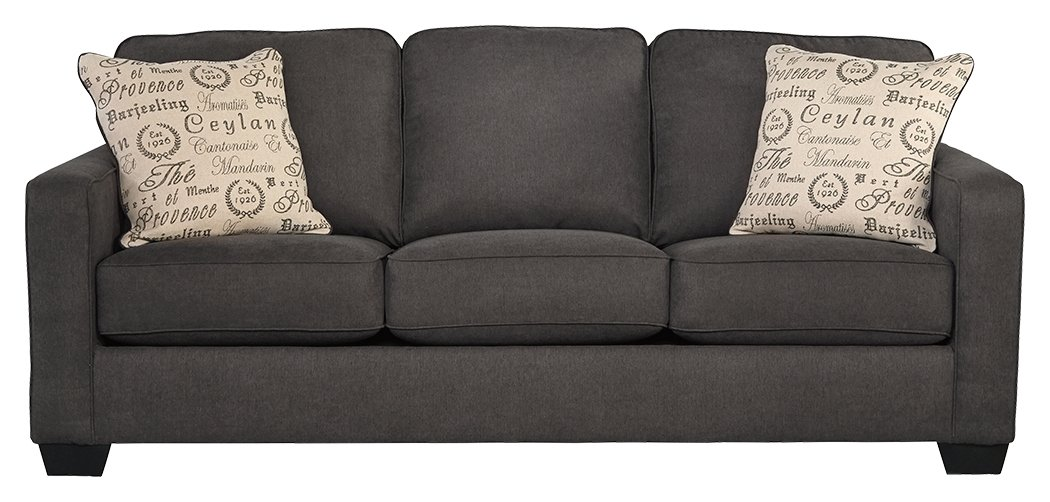 Amazon.com: Ashley Furniture Signature Design   Alenya Sleeper Sofa With 2  Throw Pillows   Queen Size   Vintage Casual   Charcoal: Kitchen U0026 Dining