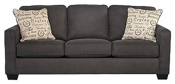 Fabulous Ashley Furniture Signature Design Alenya Sleeper Sofa With 2 Throw Pillows Queen Size Vintage Casual Charcoal Interior Design Ideas Truasarkarijobsexamcom
