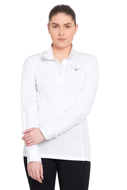 新作モデル TuffRider Women 's Kirby Kwik Dry長袖Showシャツ B00993O9YM TuffRider Small|White Women Kirby/Glacier Blue White/Glacier Blue Small, 堀田商事質店:e73623e3 --- svecha37.ru