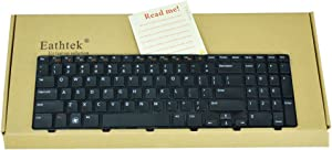 Eathtek Replacement Keyboard for Dell Inspiron N5110 M5110 Series Black US Layout, Compatible with Part Number MP-10K73US-442 4DFCJ 04DFCJ
