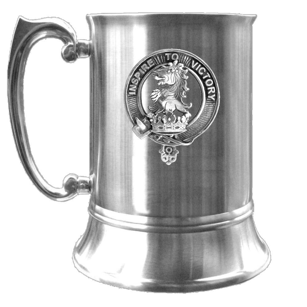 Currie Scottish Clan Crest Badge Tankard