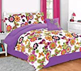 Girls/teen butterfly and floral print comforter set (Twin)