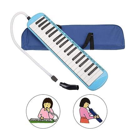 Volwco 37 Teclas Melodica, Estilo Piano soplado Teclado Instrumento ...
