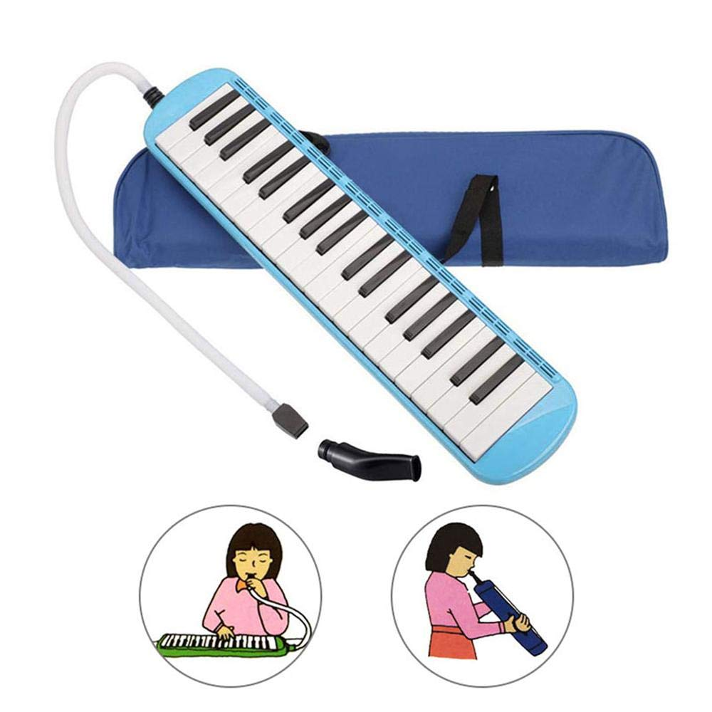 MOGOI Melodica Instrument 37 Key, Musical Instrument with Mouthpiece Air Piano Keyboard with Carrying Bag