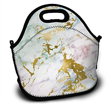 0d52afe11256 Image Unavailable. Image not available for. Color  YOHHOY Lunch Bag Large  Reusable Women Lunch Box Neoprene Insulated Lunch Tote ...