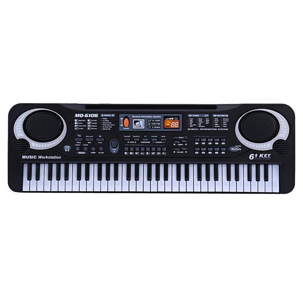 61 Keys Digital Music Electronic Keyboard Key Board Electric Piano Children Gift, US Plug by D.Roc (Image #2)